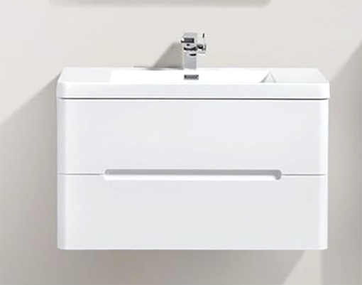 Picture of MILAN 900 DOUBLE DRAWER CABINET VANITY COMBO