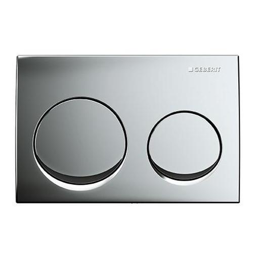 Picture of Act Plate Alpha 01 D-Flush Matt Crm-Plated