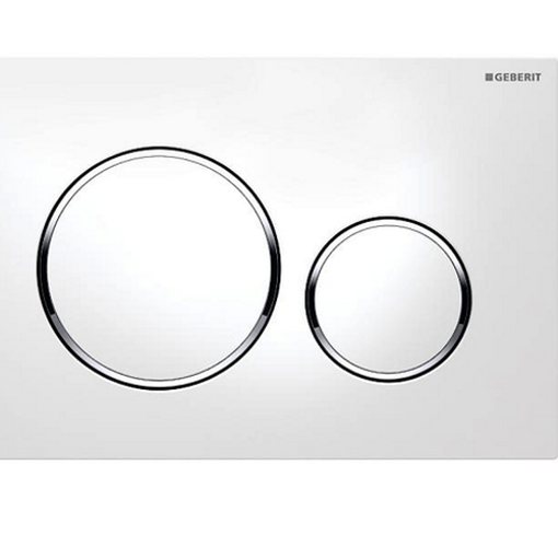 Picture of Act Plate Sigma 20 D-Flush Wht-Brt/Crm