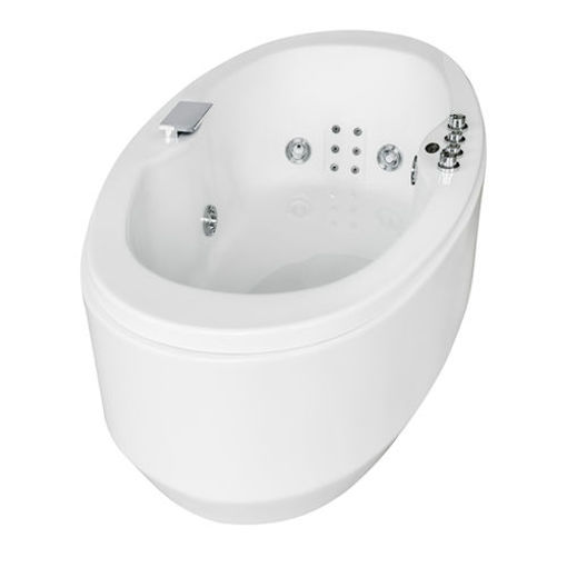 Picture of Cloud Oval Deluxe Built-In Jet Bath