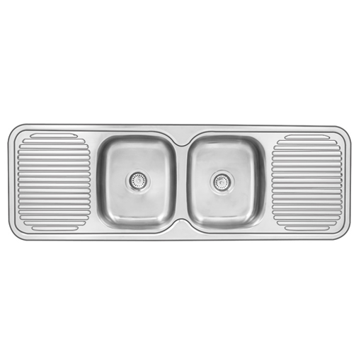 Picture of Double Center Bowl Drop In Sink 1500 x 500