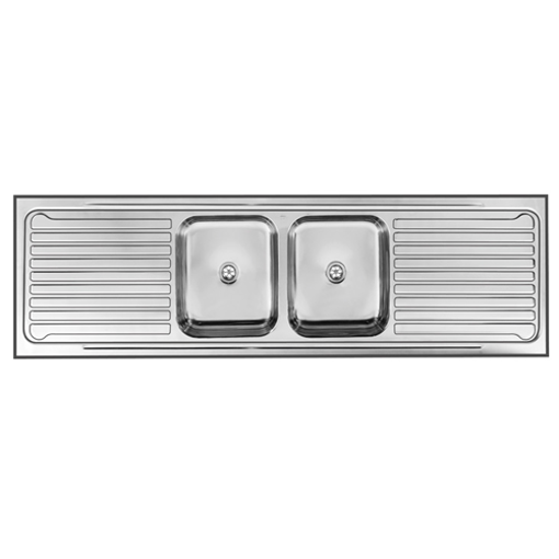 Picture of Double Centre Bowl Sit On Sink 1800 x 535