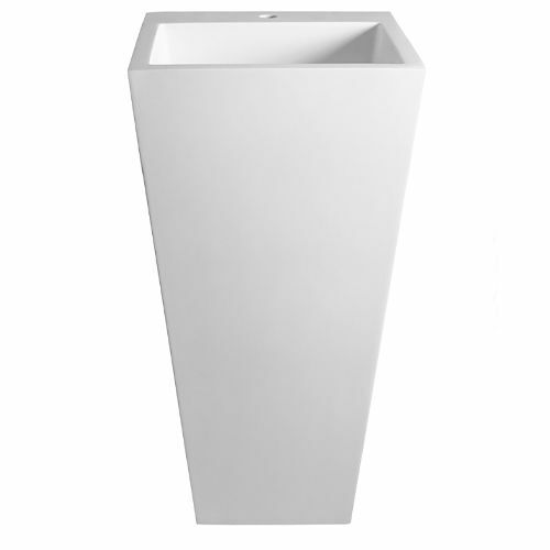 Picture of Dadoquartz Edith 820 Pillar Basin No Tap Hole Gl Wh