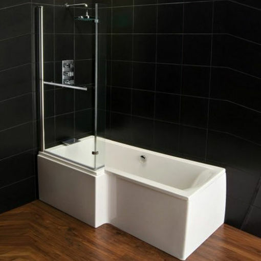 Picture of Elegancia Glass Screen For Shower Bath