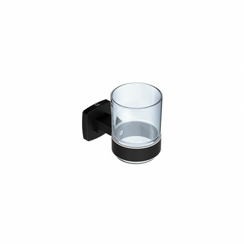 Picture of INTEGRITY GLASS TUMBLER & HOLDER (BLK)