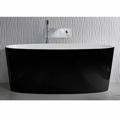 Picture of Ios F/Stand Oval Bath Black 1500 x 800