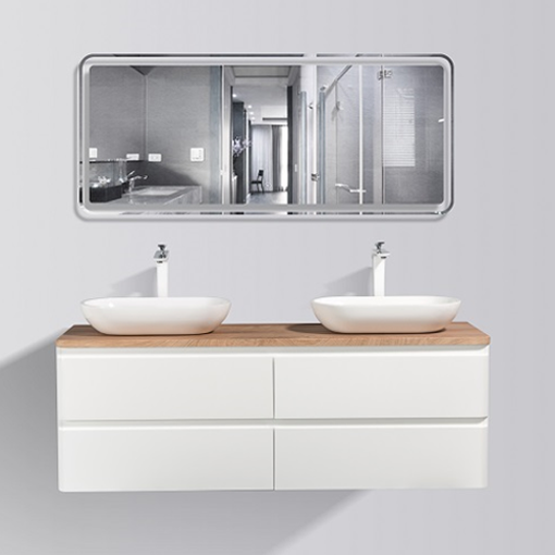 Picture of LAZIO 1500 4-DRAWER CABINET TOP & 2 BASINS combo