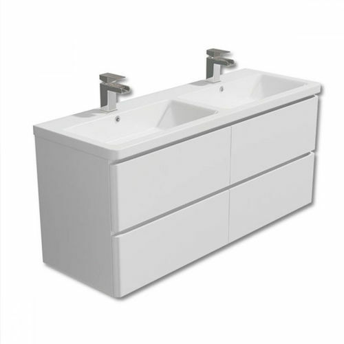 Picture of Milan 1200 Double Drawer Cabinet Vanity Combo