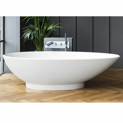 Picture of Napoli F/Stand Oval Bath Wh W/ Plinth 1900 x 855
