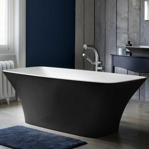 Picture of Ravello F/Stand Oval Bath Black 1743 x 765