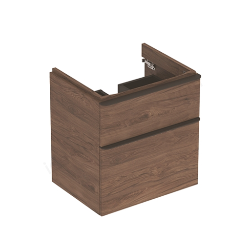 Picture of SMYLE SQ CABINET 4 HAND WASH BASIN 2 DRAWER 584 x 470 x 617 (HICKORY)