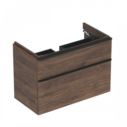 Picture of SMYLE SQ CABINET 4 HAND WASH BASIN 2 DRAWER 884 x 470 x 617 (HICKORY)