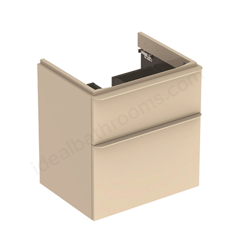 Picture of Smyle Sq Cabinet For Hand Wash Basin 2 Drawer 734 x 470 x 617 (Sand)