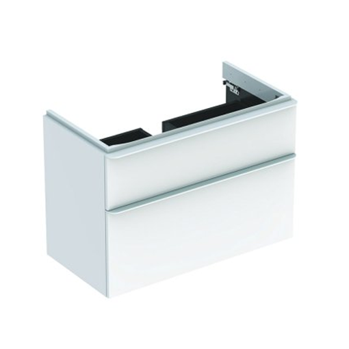 Picture of Smyle Sq Cabinet For Hand Wash Basin 2 Drawer 884 x 470 x 617 (Wht)