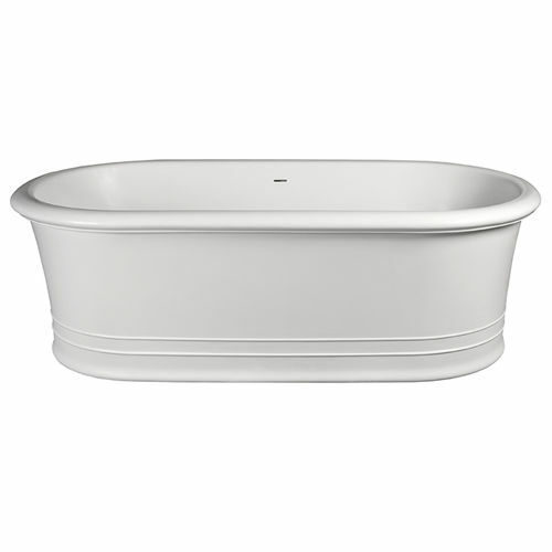 Picture of Dadoquartz Victoria F/Stand Oval Bath Gl Wh 1800 x 900
