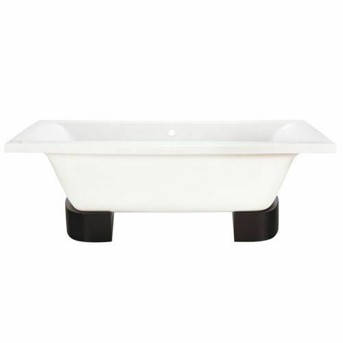 Picture of Elegancia F/Stand Bath W/ Wooden Feet 1800 x 800