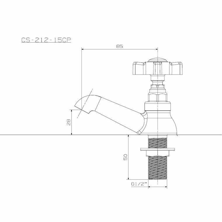 Picture of Cobra Capstan Pillar Tap 1/2'' Round