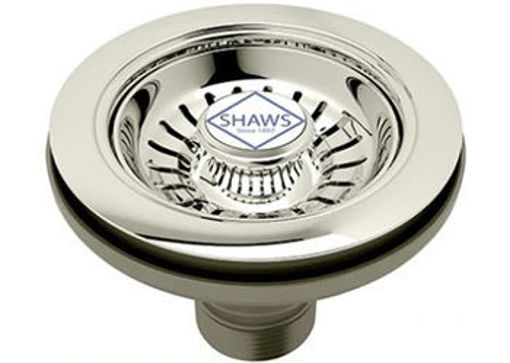 Picture of Shaws 90 mm Chrome Strainer Waste