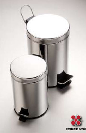Picture of Stainless Steel Waste Bin with Foot Pedal (3 litre)