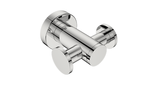 Picture of Bathroom Butler Double Robe Hook 4611 Polished