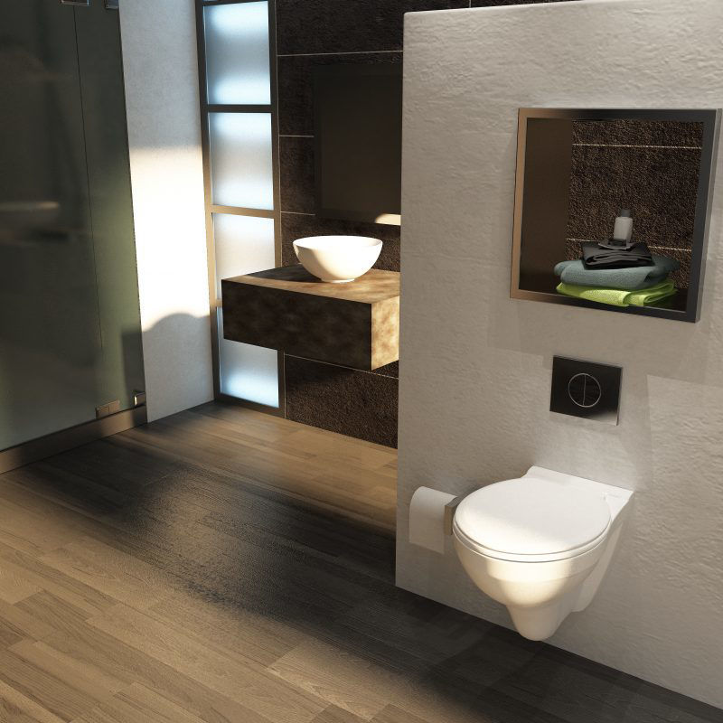 Picture of Sydney Wall Hung Pan With MDF Seat