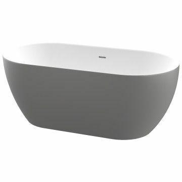 Picture of Zala Free Standing One Piece Acrylic Bath 1440 x 750 mm (Grey)