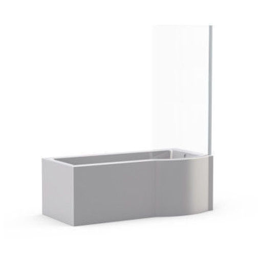 Picture of Osaka Free Standing Shower Bath with Shower Screen (Left Hand)