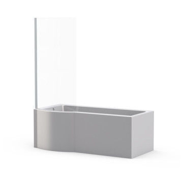 Picture of Osaka Free Standing Shower Bath with Shower Screen (Right Hand)