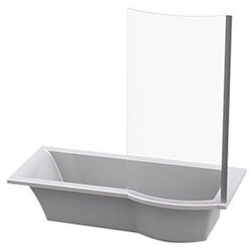 Picture of Tokyo Built-In Shower Bath with Shower Screen (Left Hand)