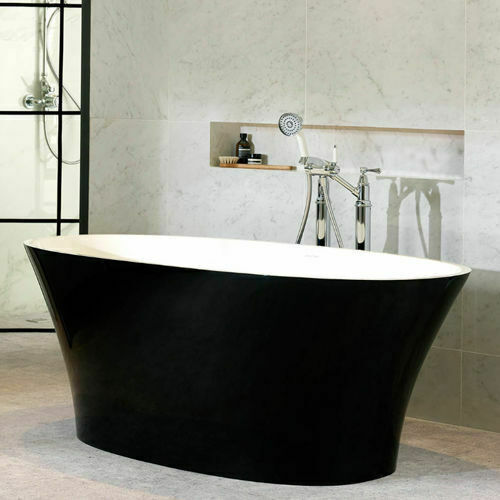 Picture of Ionian F/Stand Oval Bath Black 1701 x 793