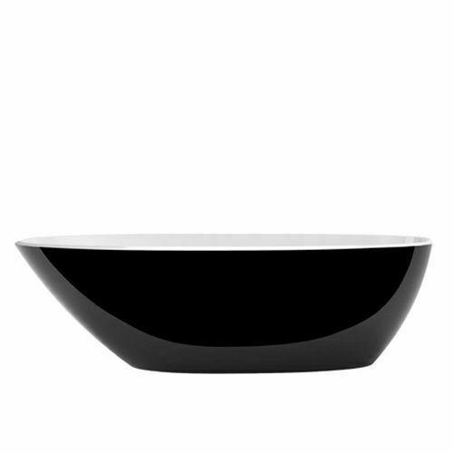 Picture of Mozzano F/Stand Oval Bath Black 1644 x 743