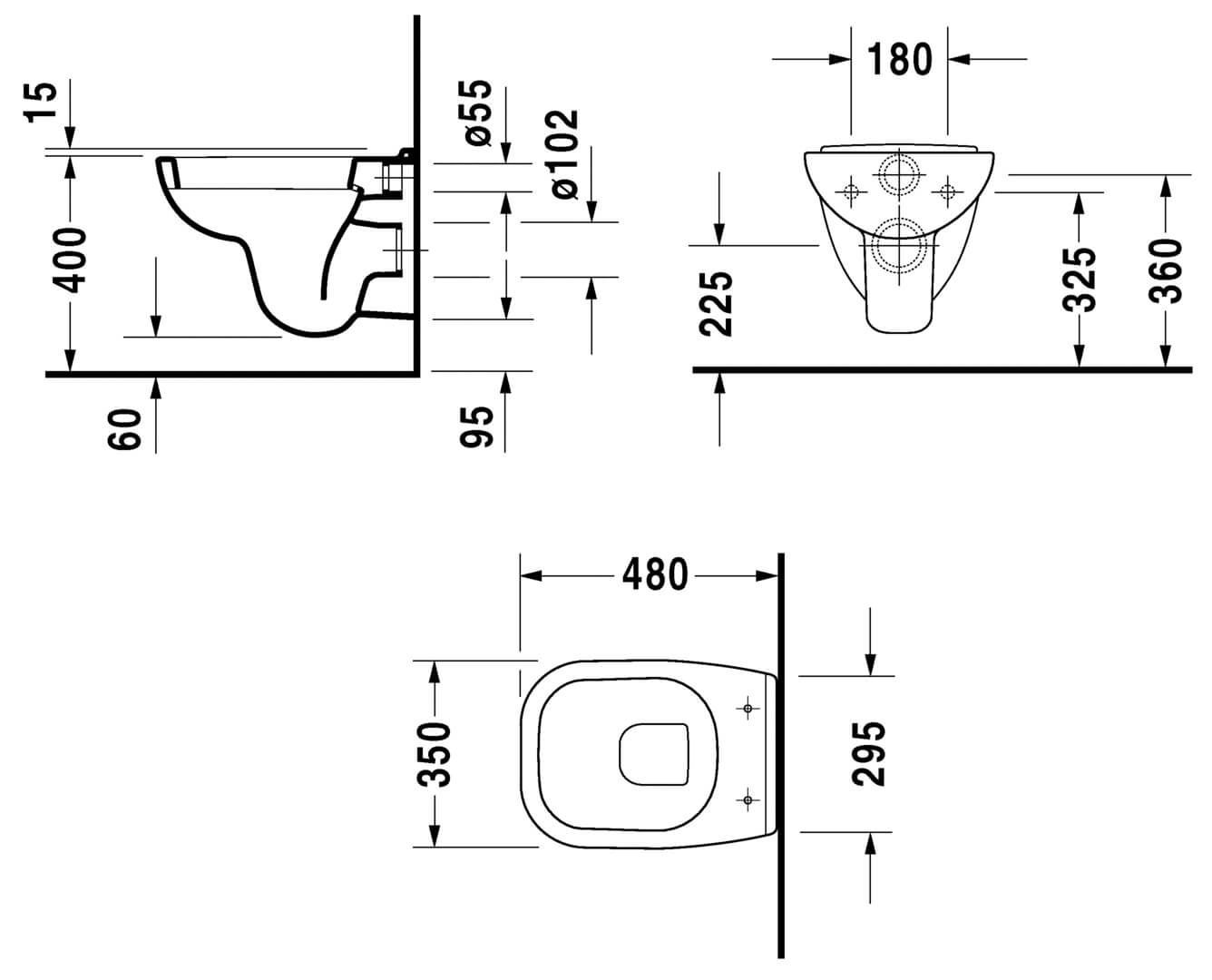 Picture of Duravit D-Code Compact Wall Mount Pan